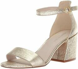 Kenneth Cole New York Womens Hannon Vinyl Fabric Open Toe Ankle Gold Size 7.0 $19.99