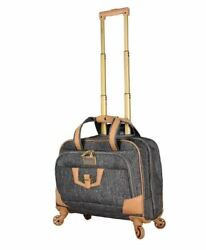 Rolling Womens Carry On Briefcase Business Duffel Bag Ladies Designer Luggage $108.79