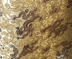 """Gold Burgundy Dragon Brocade Fabric 45"""" Width Sold By The Yard $14.99"""