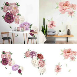 Removable Peony Rose Flowers Wall Art Sticker Decals Home Stickers Decoration $5.90