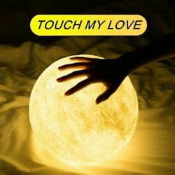 8-20cm Printing Moon 3D Lamp USB LED Night Light Moonlight Touch Color Changing