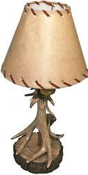Wilcor Rustic Single Antler Lamp With Deer Shade18quot; Tall $47.99