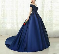 Evening Dress Lace Beaded Prom Gowns Off The Shoulder Ladies Formal Ball Dresses