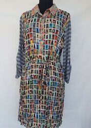 Uncle FrankIvy Jane Casual Shirt-dress with Combo Fabric details - Size XSmall  $51.50
