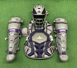 All Star System 7 Axis Youth 10-12 Catchers Gear Set - Graphite Purple $349.95