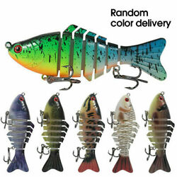 New 6 Segment Minnow Swimbait Lures Crank baits Baits Hard Bait Fishing Lures $7.49