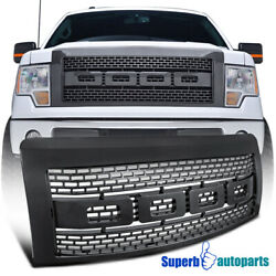 For 2009-2014 Ford F150 ABS Carbon Fiber Luxury Raptor Style Front Hood Grille $98.98