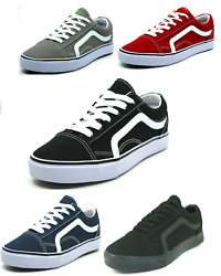 Men#x27;s Classic Lace Up Canvas Shoes Athletic Skate Sneakers Casual Fashion $21.95