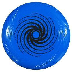 10quot; Blue with Black Swirl Print Plastic Flying Discs Frisbee Free Shipping NEW $6.54