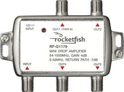 Rocketfish Bidirectional Mini Drop Amplifier Silver $22.00
