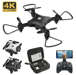 Mini Drone With Camera WiFi FPV 4K HD Altitude Hold RC Helicopter Drones $24.99