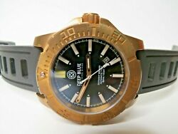 Deep Blue Daynight Bronze T100 Tritium Automatic Dive Watch Black 45mm $675.00