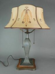 Pairpoint Curved Carmel Panel Lamp Antique $1500.00