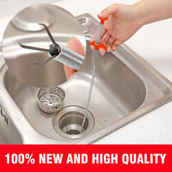 60cm Kitchen Sewer Dredging Device Tools Spring Pipe Sink Cleaning Hook US $12.99