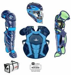 All Star System 7 Axis Youth 10-12 Catchers Gear Set - Navy Columbia Blue $349.95