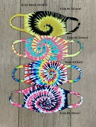 Kids Face Mask -Washable Face Mask - Reusable Tie Dye Print Mask-MADE USA $9.99