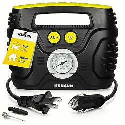 Air Compressor Car Tire inflator portable analog KC H Electric Air pump 12V 110V $59.99