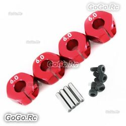 12mm Red Wheel Hex Drive Adaptor Thickness 6mm With Pins Screws 1/10 RC Car $3.23