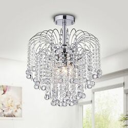 Mary Crystal Chandelier Brown White $208.49