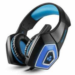 V1 Stereo Bass Headphones Video Surround Gaming Headset With Mic LED Earphones $25.98