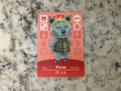 KLAUS #257 Animal Crossing Amiibo Authentic Nintendo Mint Card From Series 3 $2.43