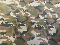 New 100% Cotton Army Camouflage Camo Print Fabric Sold By The Yard (1 Yard) $9.99