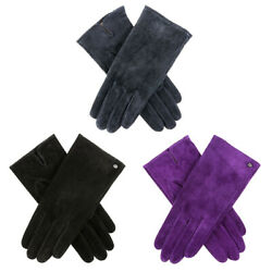 Womens Dents Emily Lightweight Suede Leather Gloves $36.95