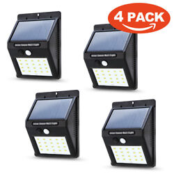 4*20 LED Solar Power Waterproof PIR Motion Sensor Wall Light Outdoor Garden Lamp $21.99