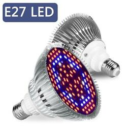 LED Grow Light Bulbs Plants Grow Lamp E27 Full Spectrum 30-80w Veg Garden M8A1 $8.61