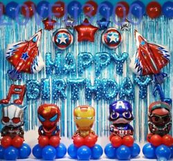 Avengers Party supplies Avengers birthday decorations Superhero Balloons set $21.99