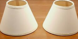 Lamp Shades Chandelier Clip On 6quot; Paper Empire Set of 2 Off White Shades $17.95