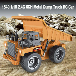 HuiNa Toys 1540 1 18 2.4G 6CH Metal Alloy Dump Truck Engineering Vehicle RC Car $36.09