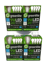 Greenlite 9W Non-Dimmable LED 60W Equivalent Household Bulb 16 bulbs  $11.95