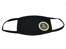 Presidential Seal Face Mask Black Cotton Reusable adult size fits most NEW Soft  $8.99
