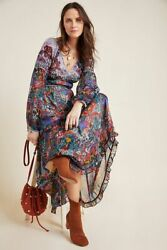 Anthropologie Annabella Maxi floral Dress size 4 new nwt $98.00