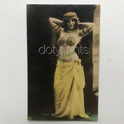 Exotic Belly Dancer REAL HAND TINTED PHOTO RPPC c1920 FRANCE Vintage ORIGINAL $14.99