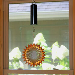 Sunnydaze Wind Spinner with Battery Operated Motor and Hook 3D Orange Star - 6