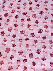 Kids Novelty Cotton Fabric Dogs amp; Puppies By the Half Yard 100% Cotton DIY CRAFT $3.99