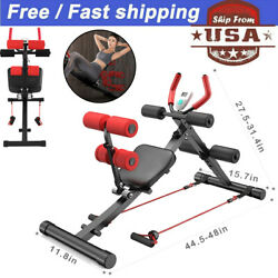 Indoor Core Ab Trainer Bench Machine Abdominal Back Body Exerciser Home Workout $75.99