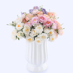 Roses Flowers Bouquet Home Display Decoration Wedding Bridal Flower Floral Decor $5.48