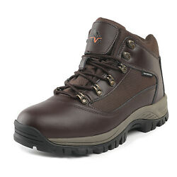 US Men#x27;s Waterproof Construction Hiking Boots Mid Outdoor Trekking Trails Shoes $35.99