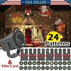 Christmas and Halloween Holiday LED Laser Light Projector House Landscape