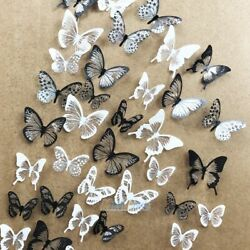 54pcs PVC 3D Crystal Butterfly Wall Stickers Art Decal DIY Home Bedroom Decorate $7.89