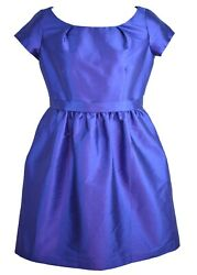 Alfred Sung Purple Blue Cocktail Wedding Party Dress Size 14 Formal With Pockets $14.99