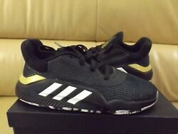 Adidas Pro Bounce 2019 Low Men#x27;s Size 13 Shoes Black White Gold EF0469 NEW $47.99