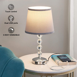 USB Touch Bedside Lamp Kakanuo 3 Way Dimmable Nightstand Decorative Lamp with $41.24