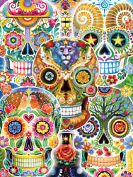 Sugar Skulls Day of the Dead 550 Piece Puzzle 18 x 24 - New Factory Sealed $21.99