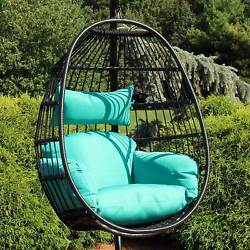 Sunnydaze Dalia Hanging Egg Chair with Seat Cushions - 45-Inch $309.00