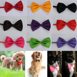 Pet Puppy Dog Cat Neck Tie Mix Color Polyester Adjustable Bow Ties for Small Dog $1.56