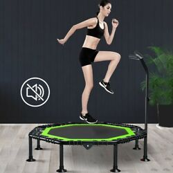 Mini Foldable Trampoline With Bar Cardio Fitness Bouncing Exercise Workout NEW $74.88